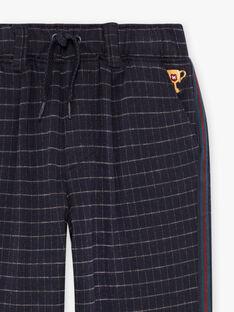 Pantaloni a quadri blu bambino BETAGE / 21H3PG92PAN715