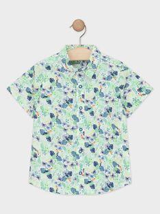 Camicia verde con stampa foglie bambino TUSAGE / 20E3PGX1CHM001