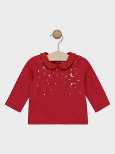 Top con colletto Peter Pan rosso neonata SAZOFIA / 19H1BFP1BRAF510