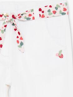 Pantaloni capri ecrù con cintura con stampa ZOBILETTE / 21E2PFJ1PCO001