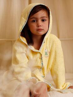 Accappatoio giallo bambina ZEPENETTE / 21E5PF11PEIB102