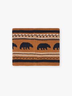 Scaldacollo in maglia jacquard con motivi orso bambino BICOUAGE / 21H4PGE2SNO804