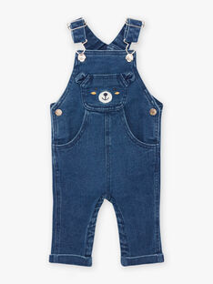 Salopette in jeans con motivo orsetto neonato BAFLOYD / 21H1BG51SALP269