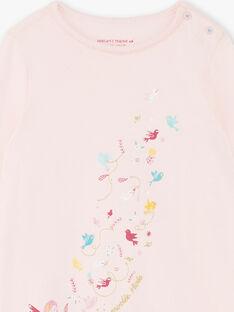 Camicia da notte e leggings rosa corallo bambina ZEOIZETTE / 21E5PF12CHND327
