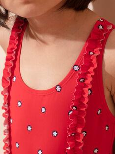 Costume intero rosso bambina ZAIZOETTE / 21E4PFR3D4K050