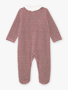 Tutina in velluto a righe rosse motivi gattini neonato BECOLIN / 21H5BG73GRE502