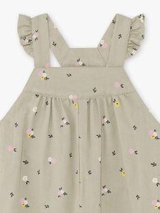 Salopette kaki con stampa a fiori neonata BACHARLENE / 21H1BF21SAL604
