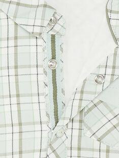 Camicia a quadri fantasia verde e grigio ZAADDY / 21E1BG71CHM009