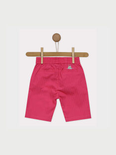Pantaloni capri rosa RATIPHENE / 19E1BFP1PCO309
