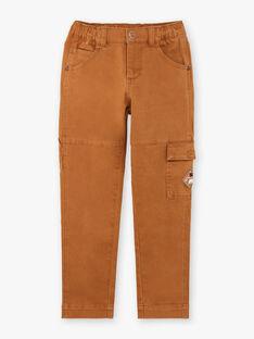 Pantaloni stile cargo cammello bambino BIBIFAGE / 21H3PGJ1PAN804