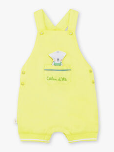 Salopette corta verde chiaro neonato TAWAYATT / 20E1BGX1SACG628