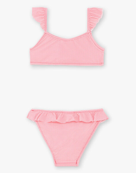 Bikini rosa fluo bambina ZAIDUETTE / 21E4PFR2D4LD311