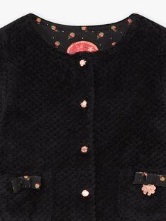 Cardigan nero in finta pelliccia neonata BAMELANIE / 21H1BFM2CAR090