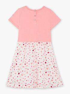 Camicia da notte rosa e bianca bambina TEJIRETTE / 20E5PFE1CHN318