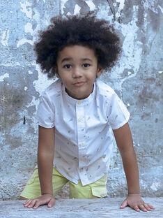 Camicia bianca e verde con stampa tennis bambino ZELIAGE / 21E3PGO1CHM001