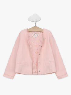 Giacca da cerimonia rosa bambina TYGOETTE / 20E2PFJ1VES321