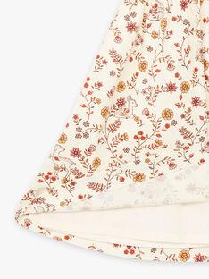 Abito ecrù con stampa a fiori neonata BAIME / 21H1BFJ1CHS001
