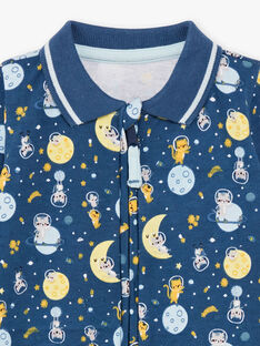 Tutina blu notte con motivi fantasia neonato BEANTOINE / 21H5BG65GRE715