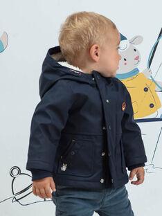 Piumino double face con cappuccio navy neonato BIOLIVE / 21H1BGD1DML070