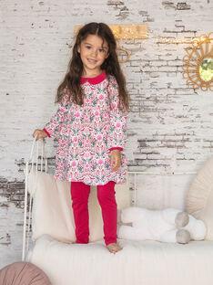 Camicia da notte a maniche lunghe con stampa e leggings bambina BEBINETTE / 21H5PF62CHN001