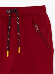 Pantaloni sportivi rossi bambino BEGLIAGE / 21H3PG53PAN503