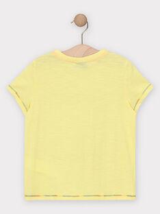 T-shirt maniche corte gialla bambino TEJIGAGE / 20E3PGG2TMCB113