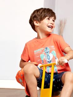 T-shirt maniche corte corallo bambino TIONAGE / 20E3PGP2TMC415