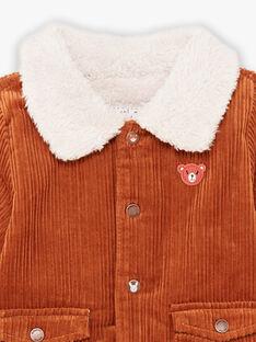 Giacca in velluto con orsetto ricamato neonato BIOCTAVE / 21H1BGD1VES809