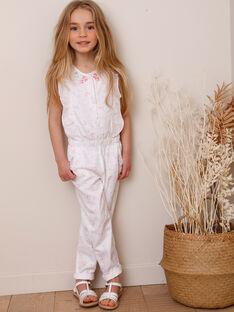 Tuta pantaloni a fiori bambina TYFOETTE / 20E2PFJ2CBL000