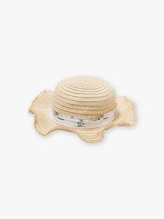 Cappello di paglia con stampa tropicale. ZYPOBETTE / 21E4PFU2CHA009