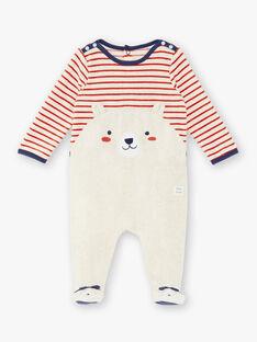 Tutina beige neonato con motivo cagnolino ZEBACHIR / 21E5BGH1GREA011