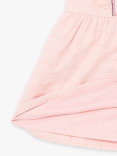 Abito senza maniche ricamato rosa neonata BAGILLY / 21H1BF91CHSD329