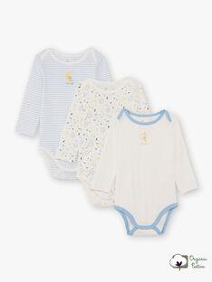 3 body bianco e celeste neonato BEGABRIEL / 21H5BG81BDL001