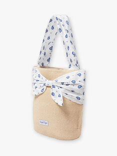 Borsa di paglia e foulard bambina ZAISAETTE / 21E4PFR1BES009