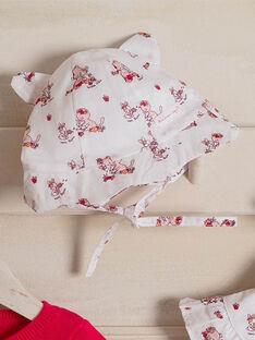 Cappello con stampa in popeline neonata ZOLISA / 21E0AFY1CHA000