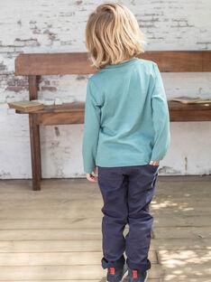 Pantaloni straight e cintura navy bambino BUXIGAGE1 / 21H3PGB3PAN070