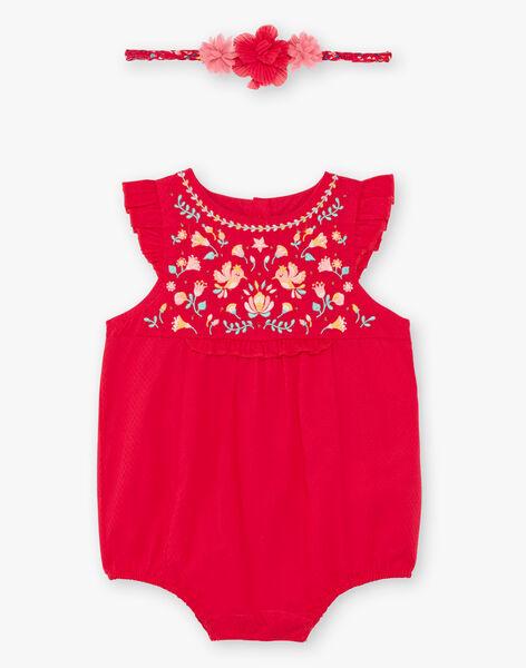 Pagliaccetto e fascia lampone neonata TASONIA / 20E1BFQ1BARF510