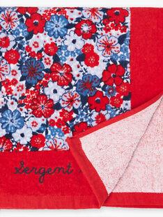 Telo mare con motivo a fiori blu e rosso bambina ZAIVYETTE / 21E4PFR1SRV050