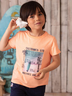 T-shirt arancione con stampa tavola da surf ZOAMAGE / 21E3PGU1TMCD311
