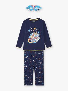 Set pigiama t-shirt, pantaloni e maschera blu scuro bambino BEFUSAGE / 21H5PG61PYJ717