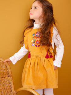 Light brown CHASUBLE DRESS VLOCHETTE / 20H2PFU1CHS804