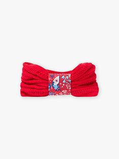 Scaldacollo in maglia rossa bambina BLOZAMETTE / 21H4PFE2SNO308