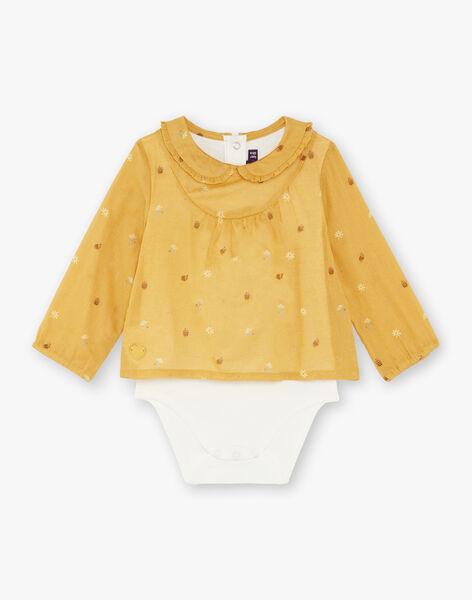 Blusa a body giallo imperiale bambina ZADINA / 21E1BF91BODB114