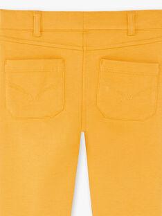 Pantaloni senape bambina ZLUPETTE2 / 21E2PFK2PANB106