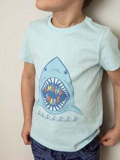 T-shirt blu con motivo squalo ZUZAGE1 / 21E3PGL3TMC614