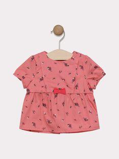 Camicia con stampa rosa neonata SACELINE / 19H1BF31CHE305