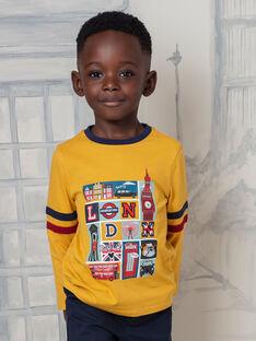 T-shirt gialla e navy bambino BEDOUAGE / 21H3PG51TMLB114