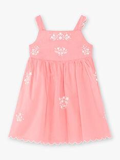 Abito rosa con motivo a fiori bianco bambina ZUKOKETTE / 21E2PFT2CHSD313