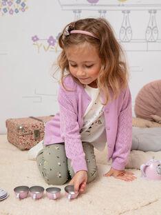Camicia maniche lunghe glicine traforata bambina BECARDETTE / 21H2PF21CAR329