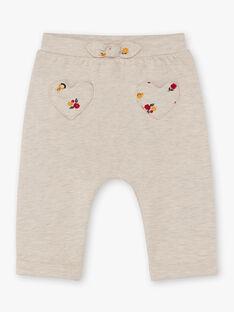 Pantaloni sportivi beige melange neonata BAEMELINE / 21H1BF51JGBA011
